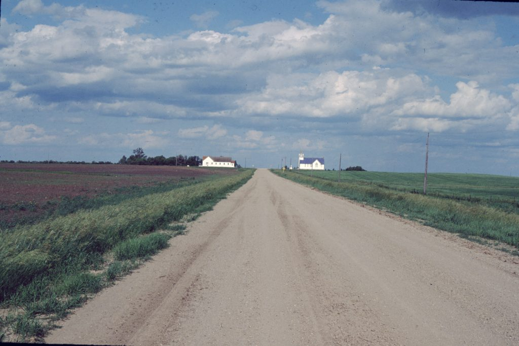 Two bulwarks of the local Finnish community, Savo Lutheran Church and the Savo Finn Hall, located outside Frederick, South Dakota.